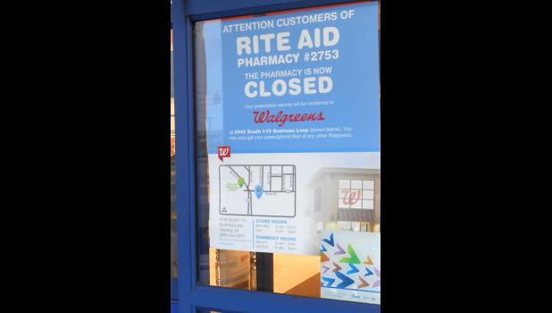 e50891bacd Above, a poster informing customers that the Rite Aid, located at 312 James  Street, closed down its pharmacy on Tuesday, Feb. 13. Photo by Dan Sanderson